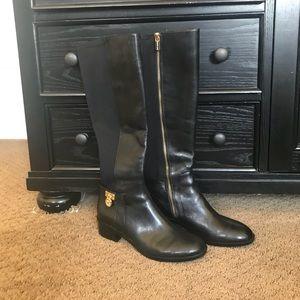 Brand new Black/Gold Michael Kors riding boots!!